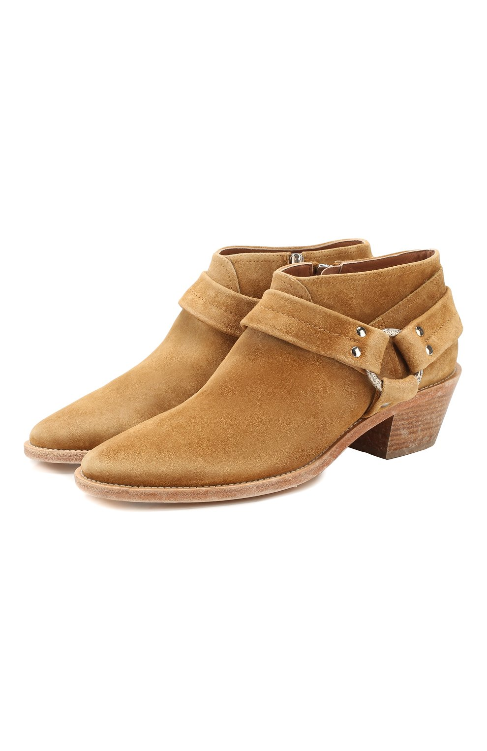 Женские замшевые ботинки bretagne GOLDEN GOOSE DELUXE BRAND коричневого цвета, арт. G36WS739.A2   Фото 1