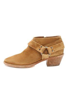 Женские замшевые ботинки bretagne GOLDEN GOOSE DELUXE BRAND коричневого цвета, арт. G36WS739.A2   Фото 3