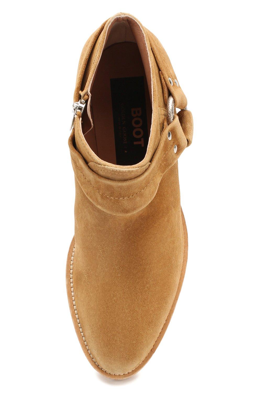 Женские замшевые ботинки bretagne GOLDEN GOOSE DELUXE BRAND коричневого цвета, арт. G36WS739.A2   Фото 5