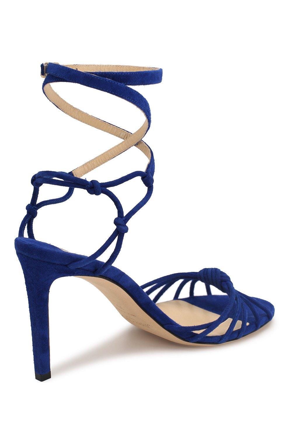 Женские замшевые босоножки lovella 85 JIMMY CHOO синего цвета, арт. L0VELLA 85/SUE | Фото 4