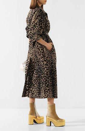 Женские текстильные ботильоны DRIES VAN NOTEN золотого цвета, арт. WS27/172/H65/QU201 | Фото 2