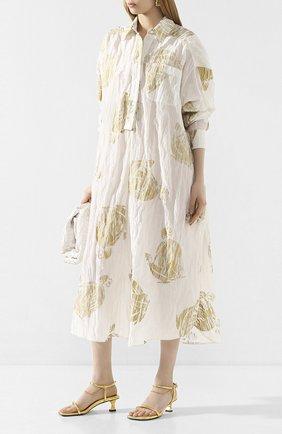 Женские кожаные босоножки PROENZA SCHOULER золотого цвета, арт. PS34231A/11320 | Фото 2