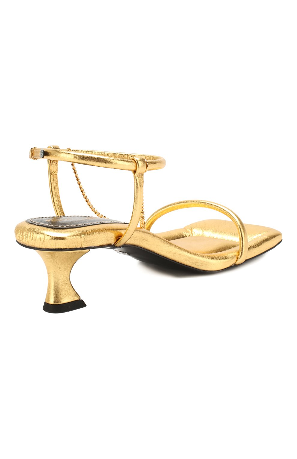 Женские кожаные босоножки PROENZA SCHOULER золотого цвета, арт. PS34231A/11320 | Фото 4