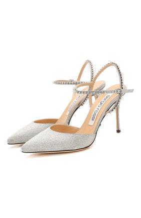 Женская кожаные туфли godiva bridal SERGIO ROSSI серебряного цвета, арт. A89520-MFN929 | Фото 1