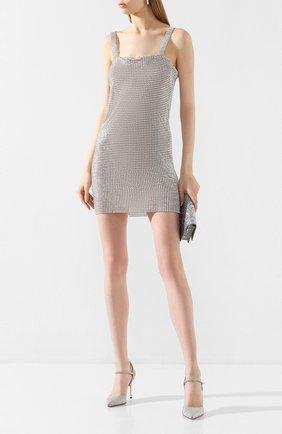 Женская кожаные туфли godiva bridal SERGIO ROSSI серебряного цвета, арт. A89520-MFN929   Фото 2
