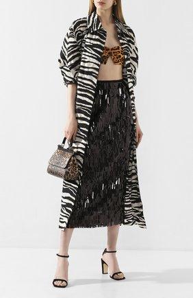 Женские текстильные босоножки sr1 SERGIO ROSSI черного цвета, арт. A90091-MAFM76 | Фото 2