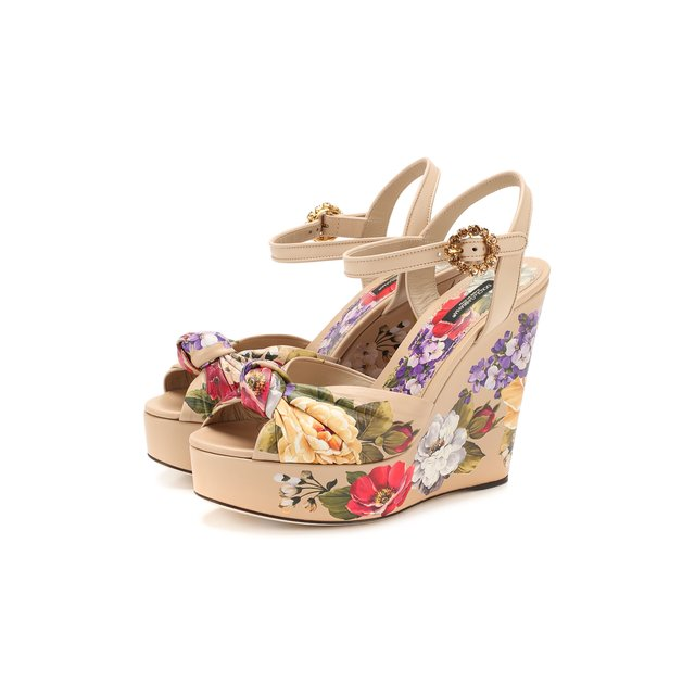 Кожаные босоножки Bianca Dolce & Gabbana