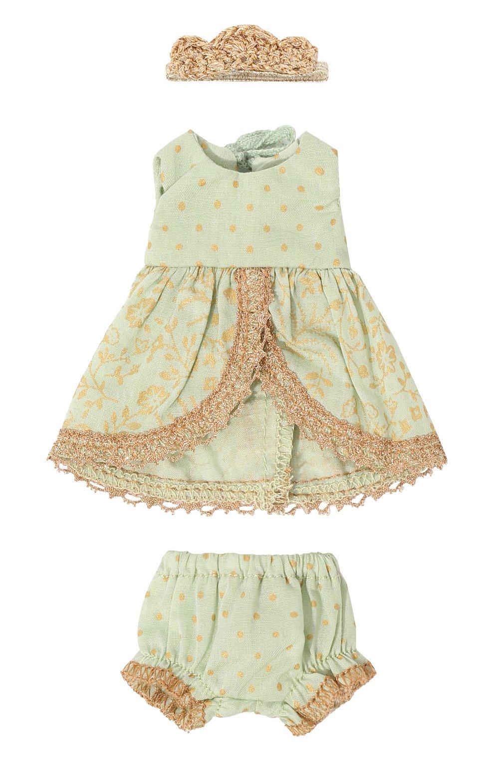 Детского игрушечное платье принцессы микро MAILEG зеленого цвета, арт. 16-7023-00   Фото 1 (Материал: Текстиль)