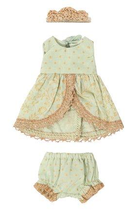 Детского игрушечное платье принцессы микро MAILEG зеленого цвета, арт. 16-7023-00 | Фото 1