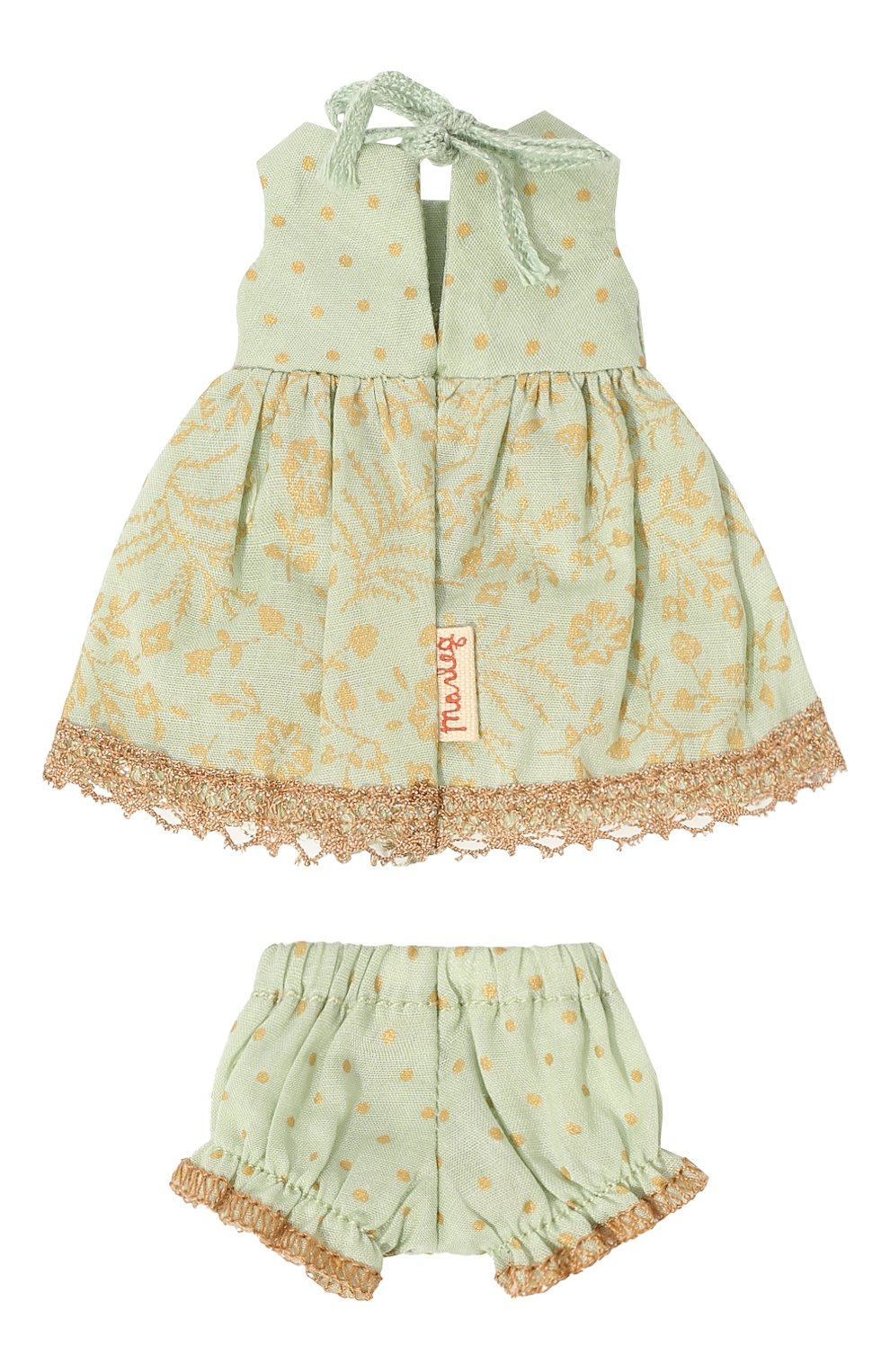 Детского игрушечное платье принцессы микро MAILEG зеленого цвета, арт. 16-7023-00   Фото 2 (Материал: Текстиль)