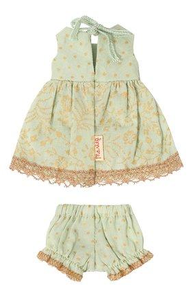 Детского игрушечное платье принцессы микро MAILEG зеленого цвета, арт. 16-7023-00 | Фото 2