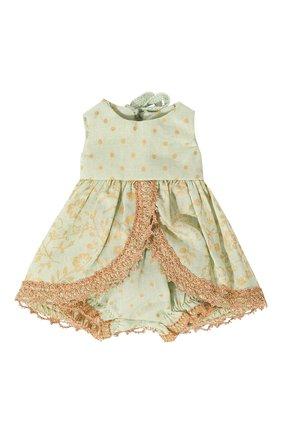 Детского игрушечное платье принцессы микро MAILEG зеленого цвета, арт. 16-7023-00   Фото 3 (Материал: Текстиль)