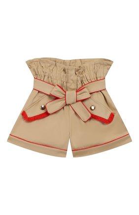 Детские хлопковые шорты STELLA JEAN KIDS бежевого цвета, арт. 20E/J/JF/PC02/1141/4A-6A | Фото 1