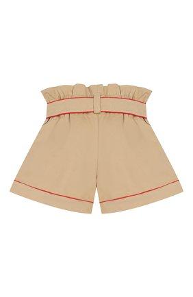 Детские хлопковые шорты STELLA JEAN KIDS бежевого цвета, арт. 20E/J/JF/PC02/1141/4A-6A | Фото 2