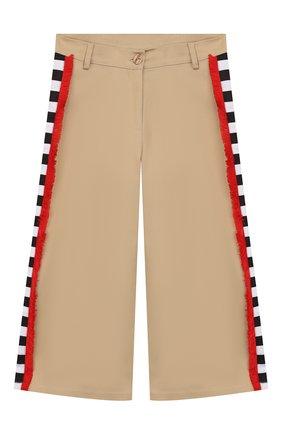 Детского хлопковые брюки STELLA JEAN KIDS бежевого цвета, арт. 20E/J/JF/PA04/1141/8A-14A   Фото 1