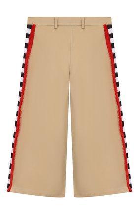 Детского хлопковые брюки STELLA JEAN KIDS бежевого цвета, арт. 20E/J/JF/PA04/1141/8A-14A   Фото 2