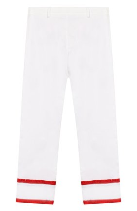 Детского хлопковые брюки STELLA JEAN KIDS белого цвета, арт. 20E/J/JF/PA03/1141/8A-14A   Фото 2