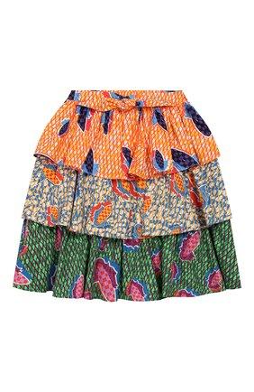 Детская хлопковая юбка STELLA JEAN KIDS разноцветного цвета, арт. 20E/J/JF/G004/0347/4A-6A   Фото 1