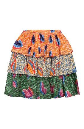 Детская хлопковая юбка STELLA JEAN KIDS разноцветного цвета, арт. 20E/J/JF/G004/0347/4A-6A   Фото 2