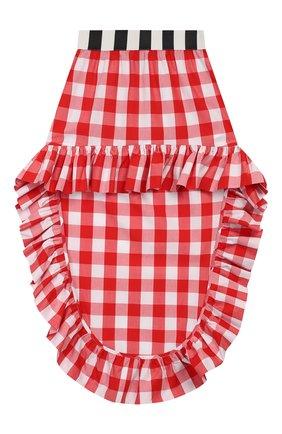 Детская хлопковая юбка STELLA JEAN KIDS красного цвета, арт. 20E/J/JF/G002/0322/8A-14A   Фото 1