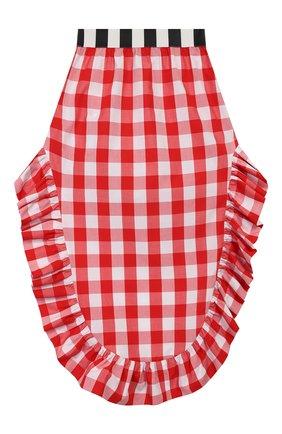 Детская хлопковая юбка STELLA JEAN KIDS красного цвета, арт. 20E/J/JF/G002/0322/8A-14A   Фото 2
