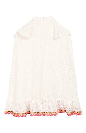 Детское хлопковое платье STELLA JEAN KIDS белого цвета, арт. 20E/J/JF/AB41/3210/8A-14A   Фото 2