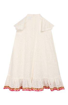Детское хлопковое платье STELLA JEAN KIDS белого цвета, арт. 20E/J/JF/AB41/3210/4A-6A   Фото 2