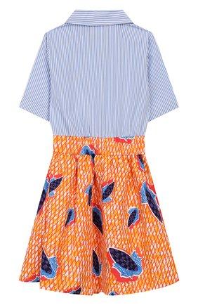 Детское хлопковое платье STELLA JEAN KIDS разноцветного цвета, арт. 20E/J/JF/AB24/0347/4A-6A   Фото 2