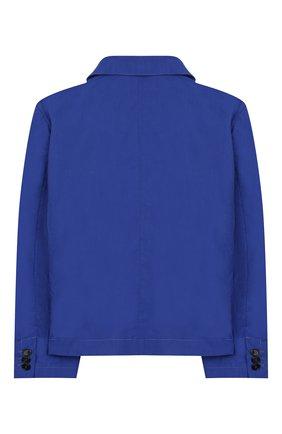 Детский хлопковый пиджак MARCELO BURLON KIDS OF MILAN синего цвета, арт. 20E/B/MB/5291/5000/8-14Y | Фото 2