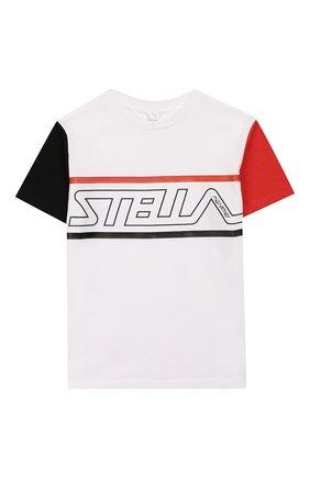 Детская хлопковая футболка STELLA MCCARTNEY белого цвета, арт. 588484/S0J84 | Фото 1
