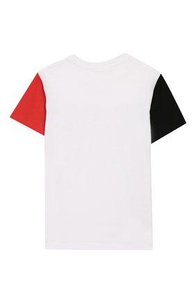 Детская хлопковая футболка STELLA MCCARTNEY белого цвета, арт. 588484/S0J84 | Фото 2
