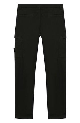 Детские хлопковые брюки STONE ISLAND темно-зеленого цвета, арт. 721630912/6-8 | Фото 2
