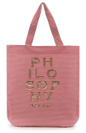 Детская хлопковая сумка PHILOSOPHY DI LORENZO SERAFINI KIDS красного цвета, арт. PJB007/CR206/VH031 | Фото 1