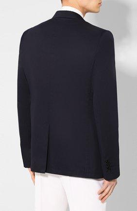 Мужской пиджак из смеси хлопка и шелка DOLCE & GABBANA синего цвета, арт. G2NW0T/FU5SZ | Фото 4