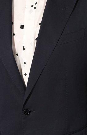 Мужской пиджак из смеси хлопка и шелка DOLCE & GABBANA синего цвета, арт. G2NW0T/FU5SZ | Фото 5