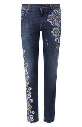Мужские джинсы DOLCE & GABBANA синего цвета, арт. GY07LD/G8CI5   Фото 1