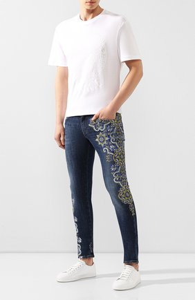 Мужские джинсы DOLCE & GABBANA синего цвета, арт. GY07LD/G8CI5   Фото 2