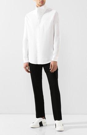 Мужская хлопковая рубашка 1017 ALYX 9SM белого цвета, арт. AAMSH0024FA02 | Фото 2