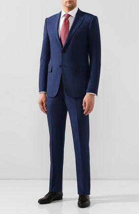 Мужской костюм из смеси шерсти и шелка ERMENEGILDO ZEGNA синего цвета, арт. 716619/221225 | Фото 1