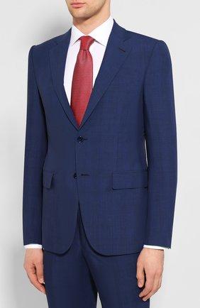 Мужской костюм из смеси шерсти и шелка ERMENEGILDO ZEGNA синего цвета, арт. 716619/221225 | Фото 2