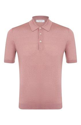 Мужское шелковое поло GRAN SASSO розового цвета, арт. 43110/23503 | Фото 1