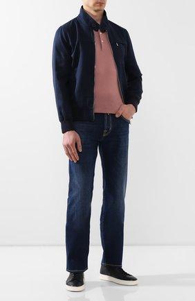 Мужское шелковое поло GRAN SASSO розового цвета, арт. 43110/23503 | Фото 2