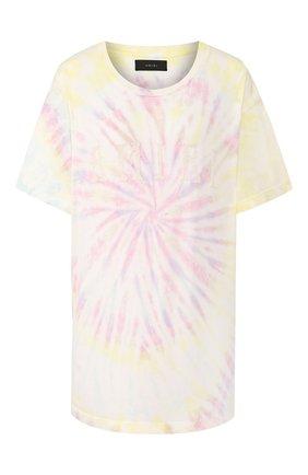Мужская хлопковая футболка AMIRI разноцветного цвета, арт. Y0M03437CJ | Фото 1