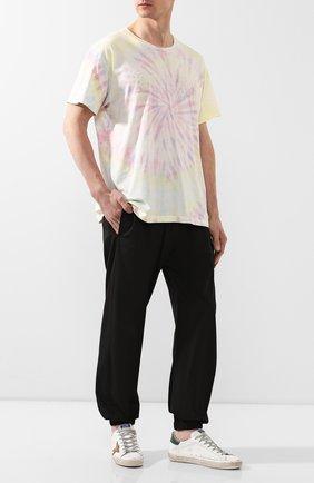 Мужская хлопковая футболка AMIRI разноцветного цвета, арт. Y0M03437CJ | Фото 2