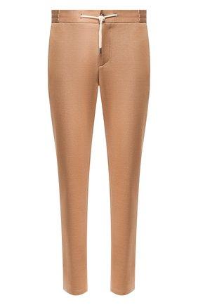 Мужские хлопковые брюки ANDREA CAMPAGNA светло-коричневого цвета, арт. SPIAGGIA/AN1100 | Фото 1