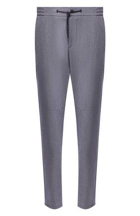 Мужской брюки из смеси хлопка и льна ANDREA CAMPAGNA темно-синего цвета, арт. SPIAGGIA/1/SB1315X   Фото 1