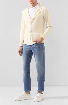 Мужской хлопковый пиджак DANIELE FIESOLI кремвого цвета, арт. DF 0062 | Фото 2