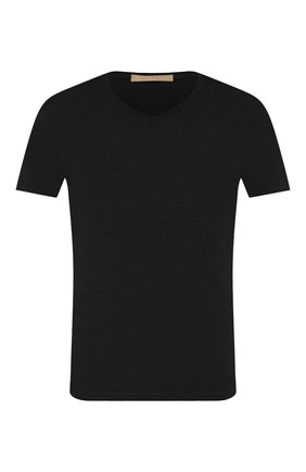Мужская льняная футболка DANIELE FIESOLI черного цвета, арт. DF 1236 | Фото 1