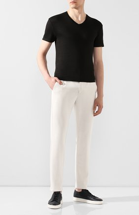 Мужская льняная футболка DANIELE FIESOLI черного цвета, арт. DF 1236 | Фото 2