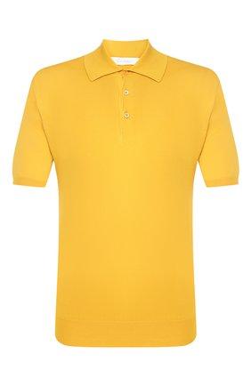 Мужское хлопковое поло CRUCIANI желтого цвета, арт. CU558.P30   Фото 1